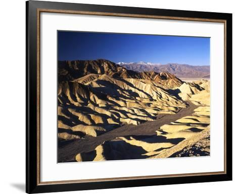 Telescope Peak in Mojave Desert, Death Valley National Park, Zabriskie Point, California, USA-Adam Jones-Framed Art Print