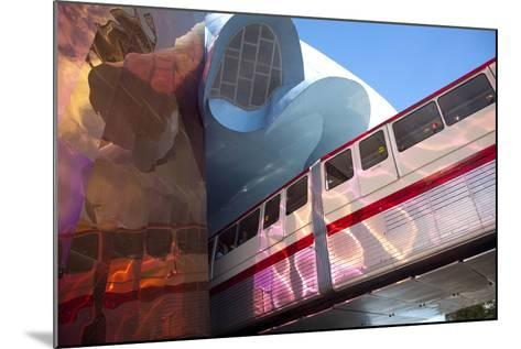 Monorail and Experience Music Project, Science Fiction Museum, Seattle, Washington, USA-John & Lisa Merrill-Mounted Photographic Print