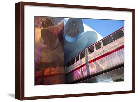 Monorail and Experience Music Project, Science Fiction Museum, Seattle, Washington, USA-John & Lisa Merrill-Framed Art Print