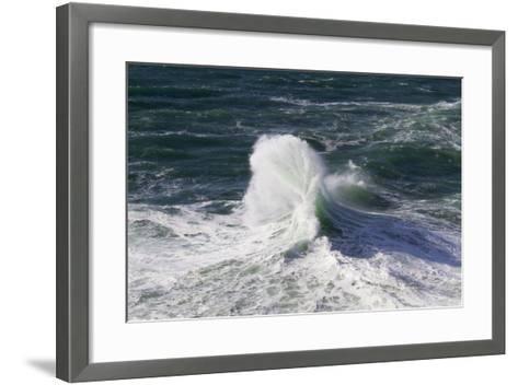 Wind Driven Ocean Waves, Cape Kiwanda, Oregon, USA-Jamie & Judy Wild-Framed Art Print