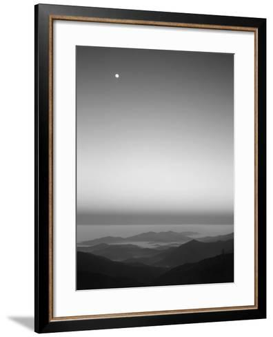 Cherohala Skyway, Full Moon over the Smoky Mountains-Rob Tilley-Framed Art Print