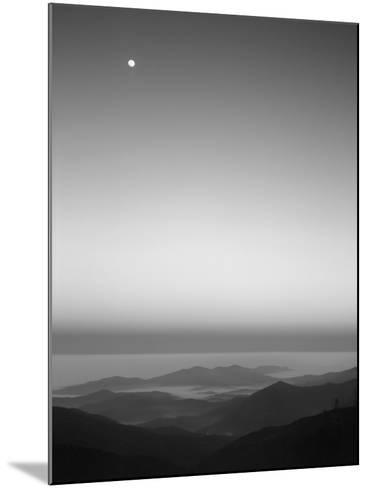 Cherohala Skyway, Full Moon over the Smoky Mountains-Rob Tilley-Mounted Photographic Print