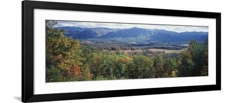 View of the Great Smoky Mountains, Cades Cove, Tennessee, USA-Walter Bibikow-Framed Art Print