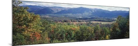 View of the Great Smoky Mountains, Cades Cove, Tennessee, USA-Walter Bibikow-Mounted Photographic Print