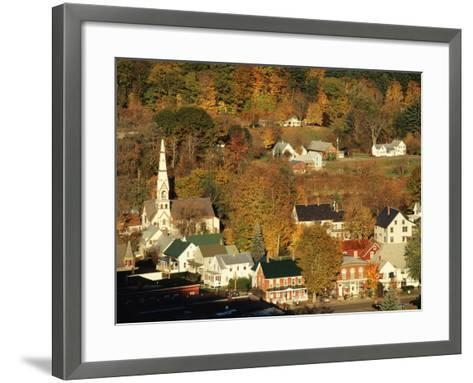 View of Town, South Royalties, Vermont, USA-Walter Bibikow-Framed Art Print