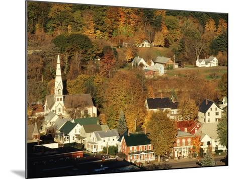 View of Town, South Royalties, Vermont, USA-Walter Bibikow-Mounted Photographic Print
