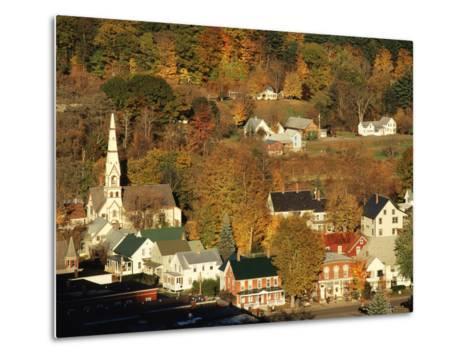 View of Town, South Royalties, Vermont, USA-Walter Bibikow-Metal Print