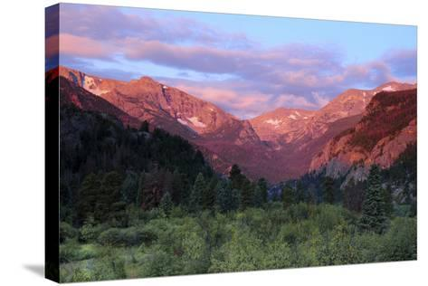 Sunrise at Moraine Park, Rocky Mountain National Park, Colorado, USA-Michel Hersen-Stretched Canvas Print