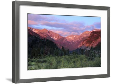 Sunrise at Moraine Park, Rocky Mountain National Park, Colorado, USA-Michel Hersen-Framed Art Print