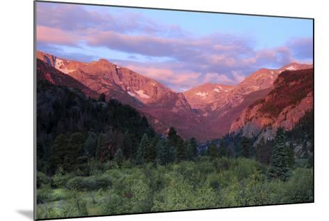 Sunrise at Moraine Park, Rocky Mountain National Park, Colorado, USA-Michel Hersen-Mounted Photographic Print