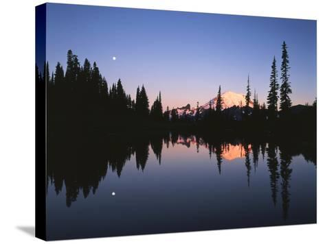 Full Moon in Upper Tipsoo Lake, Mount Rainier National Park, Washington, USA-Adam Jones-Stretched Canvas Print