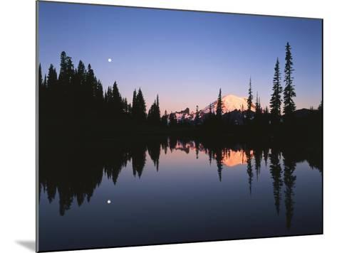 Full Moon in Upper Tipsoo Lake, Mount Rainier National Park, Washington, USA-Adam Jones-Mounted Photographic Print