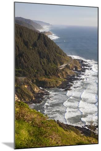 Coastline View from Overlook, Cape Perpetua Scenic Area, Oregon, USA-Jamie & Judy Wild-Mounted Photographic Print
