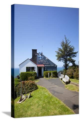 The Lookout Observatory and Gift Shop, Cape Foulweather, Oregon, USA-Jamie & Judy Wild-Stretched Canvas Print