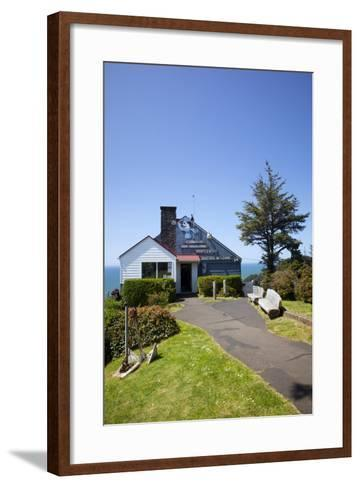 The Lookout Observatory and Gift Shop, Cape Foulweather, Oregon, USA-Jamie & Judy Wild-Framed Art Print