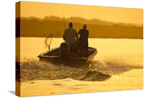 Fishermen Boating Toward the Laguna Madre, Texas, USA-Larry Ditto-Stretched Canvas Print