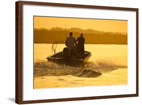 Fishermen Boating Toward the Laguna Madre, Texas, USA-Larry Ditto-Framed Art Print