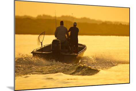 Fishermen Boating Toward the Laguna Madre, Texas, USA-Larry Ditto-Mounted Photographic Print