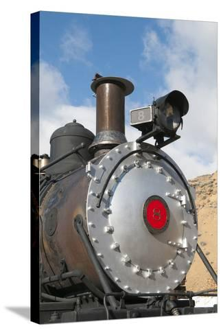 Old Steam Locomotive, Gold Hill Train Station, Virginia City, Nevada, USA-Michael DeFreitas-Stretched Canvas Print