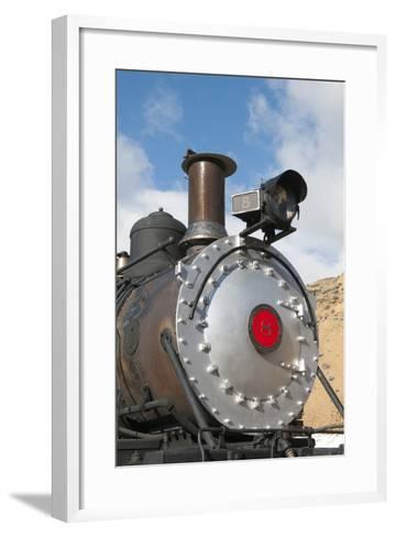 Old Steam Locomotive, Gold Hill Train Station, Virginia City, Nevada, USA-Michael DeFreitas-Framed Art Print