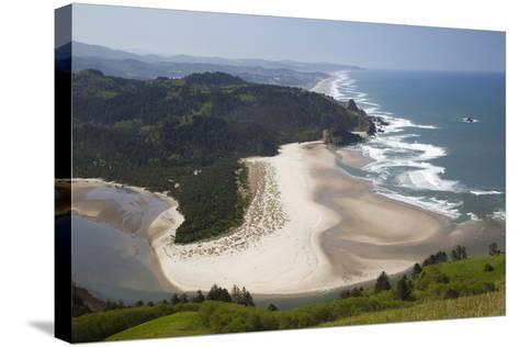 View of Beach and Salmon River, Cascade Head, Oregon, USA-Jamie & Judy Wild-Stretched Canvas Print