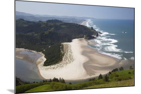 View of Beach and Salmon River, Cascade Head, Oregon, USA-Jamie & Judy Wild-Mounted Photographic Print