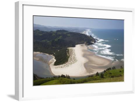 View of Beach and Salmon River, Cascade Head, Oregon, USA-Jamie & Judy Wild-Framed Art Print