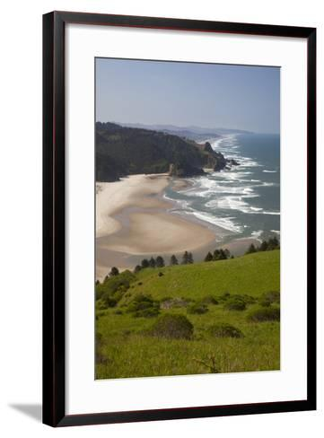 View of Beach, Cascade Head, Oregon, USA-Jamie & Judy Wild-Framed Art Print