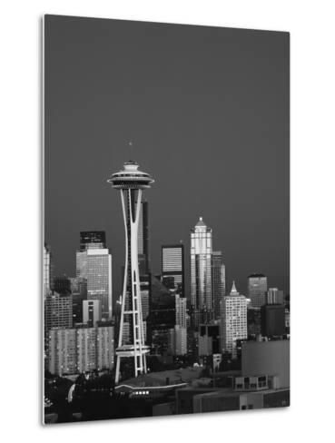 Space Needle at Dusk, Seattle, Washington, USA-Adam Jones-Metal Print