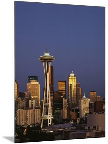 Space Needle at Dusk, Seattle, Washington, USA-Adam Jones-Mounted Photographic Print