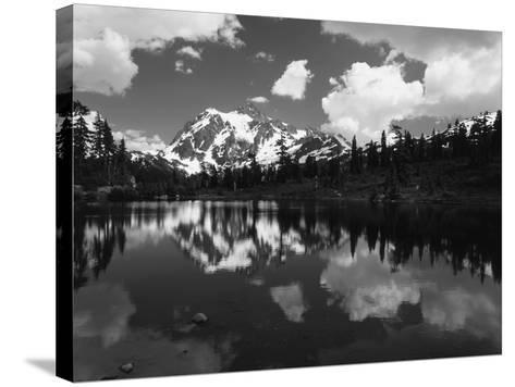Mt Shuksan with Baker Lake, North Cascades National Park, Washington, USA-Adam Jones-Stretched Canvas Print