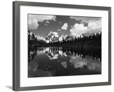 Mt Shuksan with Baker Lake, North Cascades National Park, Washington, USA-Adam Jones-Framed Art Print