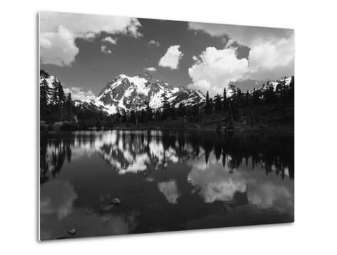 Mt Shuksan with Baker Lake, North Cascades National Park, Washington, USA-Adam Jones-Metal Print