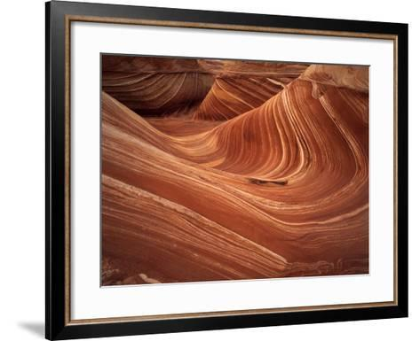 Wave, Coyote Buttes Area, Vermilion Cliffs Wilderness Area, Paria Canyon, Arizona, USA-Adam Jones-Framed Art Print