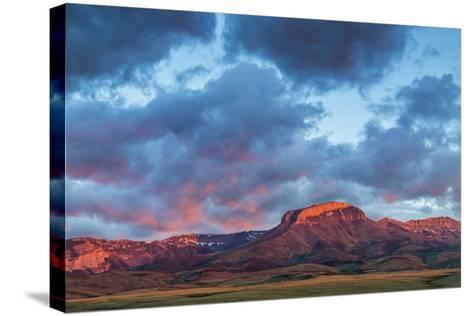 Fiery Sunrise Light, Ear Mountain, Rocky Mountain Front, Choteau, Montana, USA-Chuck Haney-Stretched Canvas Print