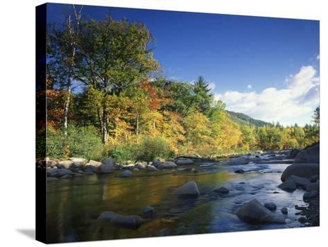 Swift River in Autumn, White Mountains National Forest, New Hampshire, USA-Adam Jones-Stretched Canvas Print