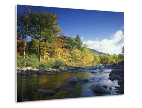 Swift River in Autumn, White Mountains National Forest, New Hampshire, USA-Adam Jones-Metal Print