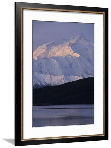 Mount McKinley, Wonder Lake, Sunrise, Denali National Park, Alaska, USA-Gerry Reynolds-Framed Art Print