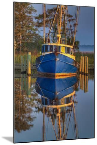 Shrimp Boat Docked at Harbor, Apalachicola, Florida, USA-Joanne Wells-Mounted Photographic Print