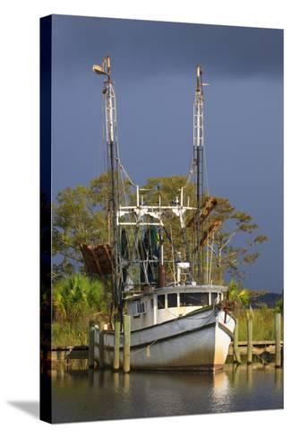 Shrimp Boat Docked at Harbor, Apalachicola, Florida, USA-Joanne Wells-Stretched Canvas Print