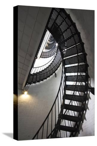Stairs to the Top of the Saint Augustine Lighthouse, Florida, USA-Joanne Wells-Stretched Canvas Print