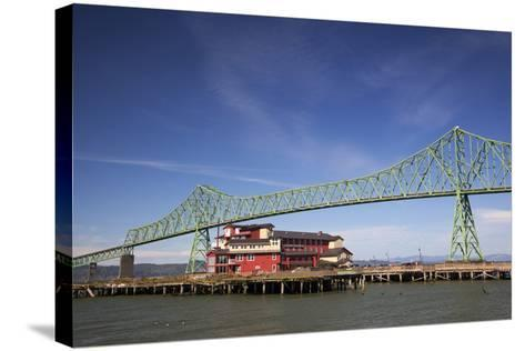 Astoria-Melger Bridge, Cannery Pier Hotel on the Columbia River, Astoria, Oregon, USA-Jamie & Judy Wild-Stretched Canvas Print