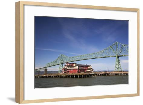 Astoria-Melger Bridge, Cannery Pier Hotel on the Columbia River, Astoria, Oregon, USA-Jamie & Judy Wild-Framed Art Print
