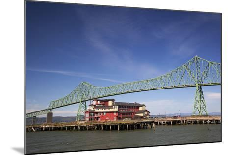 Astoria-Melger Bridge, Cannery Pier Hotel on the Columbia River, Astoria, Oregon, USA-Jamie & Judy Wild-Mounted Photographic Print