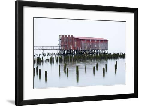 Old Fishing Cannery on the Columbia River, Astoria, Oregon, USA-Jamie & Judy Wild-Framed Art Print