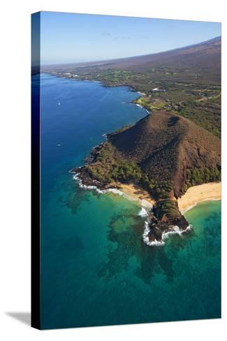 Coastline, Pu'u Olai, Makena Beach, Aka Oneloa Beach and Big Beach, Maui, Hawaii, USA-Douglas Peebles-Stretched Canvas Print