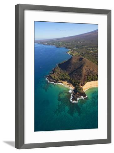 Coastline, Pu'u Olai, Makena Beach, Aka Oneloa Beach and Big Beach, Maui, Hawaii, USA-Douglas Peebles-Framed Art Print