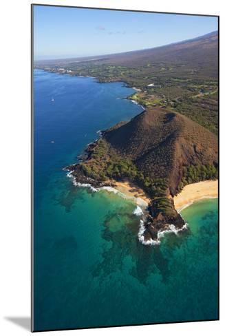 Coastline, Pu'u Olai, Makena Beach, Aka Oneloa Beach and Big Beach, Maui, Hawaii, USA-Douglas Peebles-Mounted Photographic Print