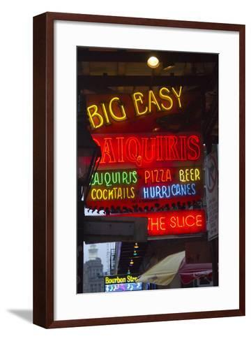 Neon Signs on Bourbon Street, French Quarter, New Orleans, Louisiana, USA-Jamie & Judy Wild-Framed Art Print