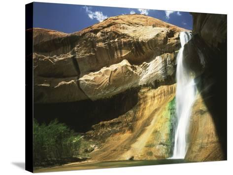 View of Waterfall in Grand Staircase Escalante National Monument, Utah, USA-Scott T^ Smith-Stretched Canvas Print